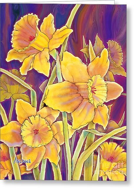 Daffodils Greeting Card by Teresa Ascone