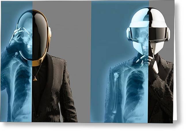 Daft Punk - 824 Greeting Card by Jovemini ART