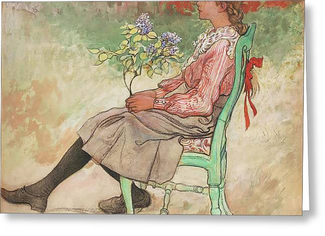 Dagmar Greeting Card by Carl Larsson