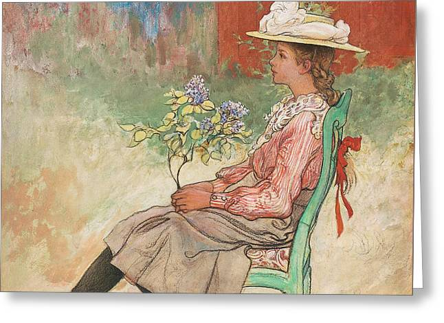 Dagmar Grill Greeting Card by Carl Larsson