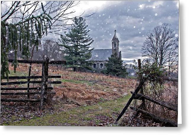 Dahlgren Chapel Winter Scene Greeting Card
