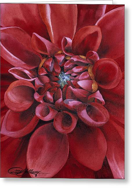 Dahlia Greeting Card by Craig Gallaway