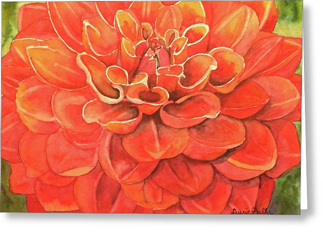 Dahlia IIi Greeting Card by Laurie Balla