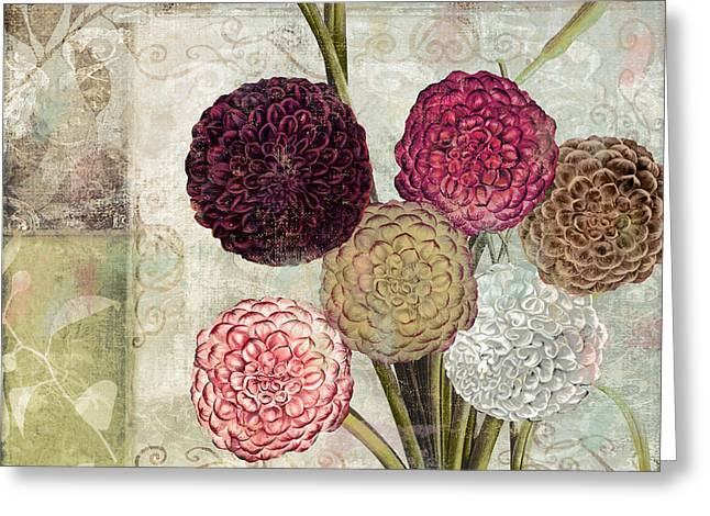 Dahlias For Donna I Greeting Card by Mindy Sommers