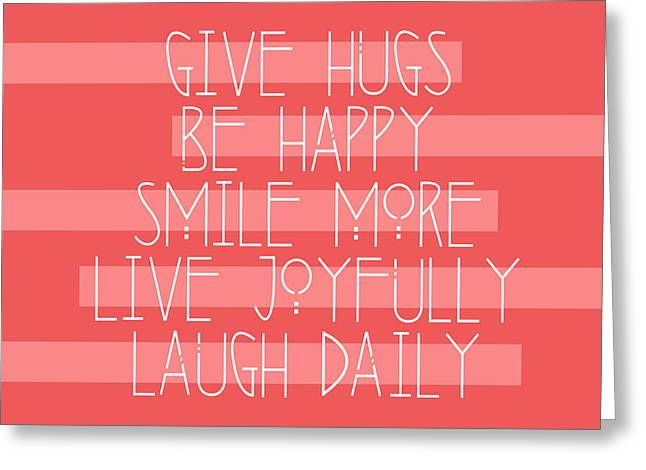 Daily Guide In Coral Greeting Card by Liesl Marelli