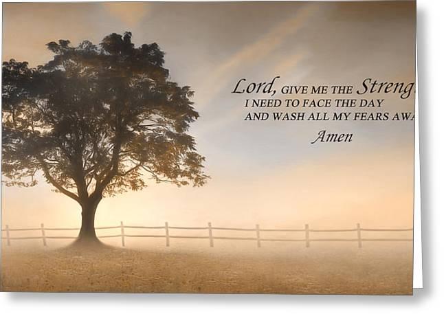 Daily Prayer Greeting Card by Lori Deiter
