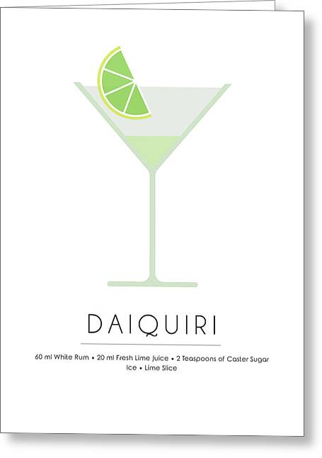 Daiquiri Classic Cocktail Minimalist Print Greeting Card