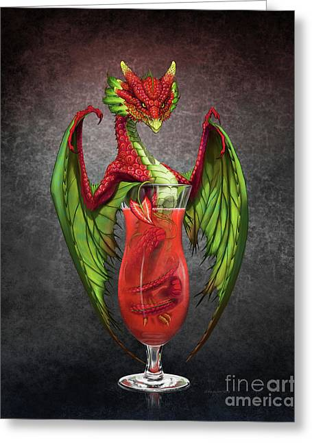 Daiquiri Dragon Greeting Card