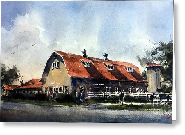 Dairy Barn At Texas Technological College Greeting Card