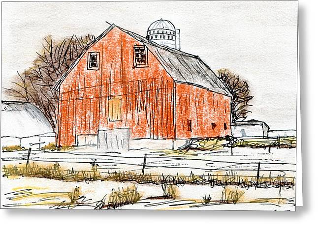 Dairy Barn Greeting Card