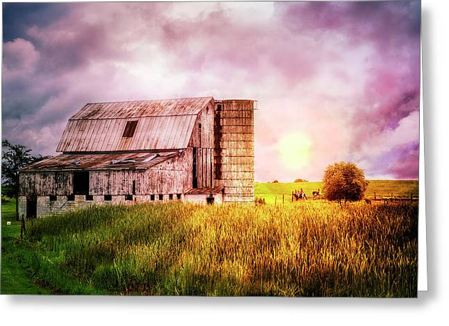 Dairy Country Greeting Card by Debra and Dave Vanderlaan