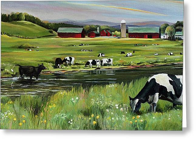 Dairy Farm Dream Greeting Card