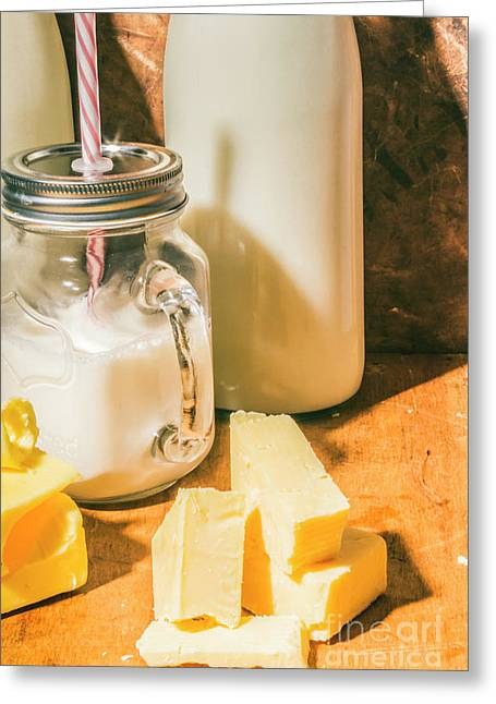 Dairy Farm Products Greeting Card by Jorgo Photography - Wall Art Gallery
