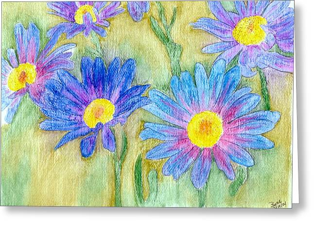 Daisey Field Greeting Card by Margie  Byrne