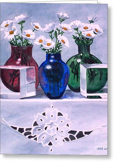 Daisies And Cubes Greeting Card
