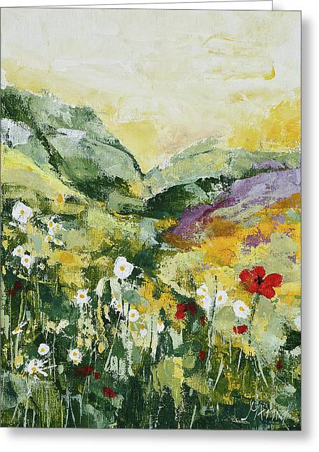 Daisies And Poppies Greeting Card