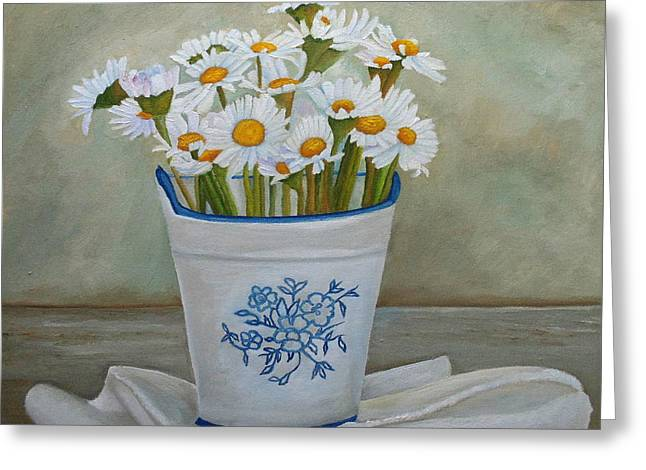 Daisies And Porcelain Greeting Card