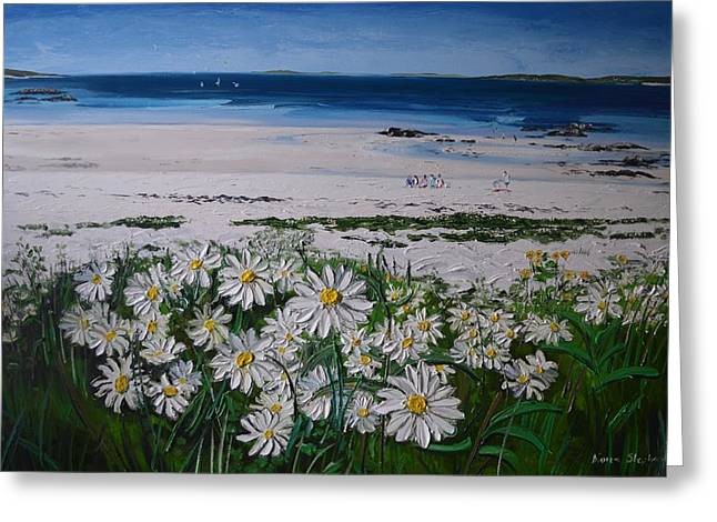 Daisies Connemara Ireland Greeting Card