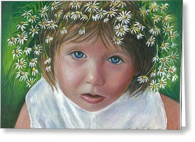 Daisies In My Hair Greeting Card