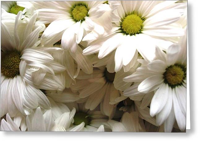 Daisies Make Me Smile Greeting Card by Laura  Grisham