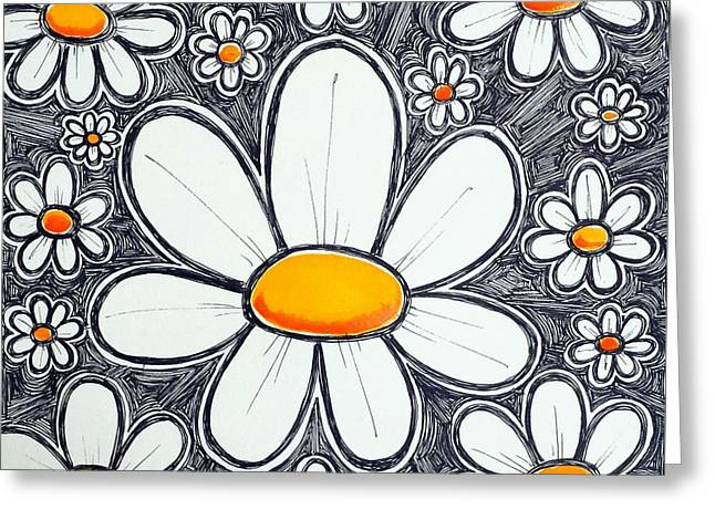 Daisies Of Delight Greeting Card