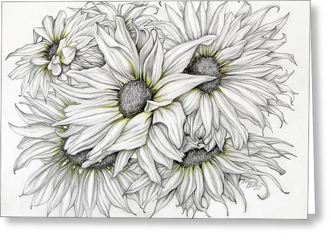 Sunflowers Pencil Greeting Card