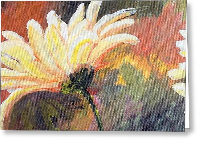 Daisy 2 Of 3 Triptych Greeting Card