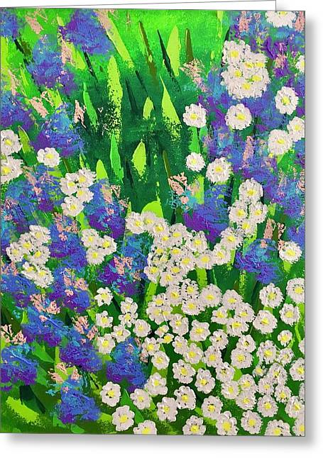 Daisy And Glads Greeting Card