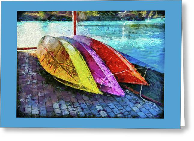 Greeting Card featuring the photograph Daisy And The Rowboats by Thom Zehrfeld