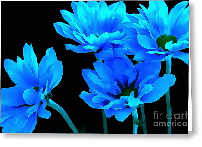 Daisy Blues Greeting Card by Krissy Katsimbras