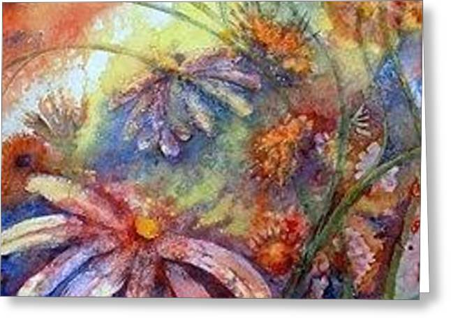 Greeting Card featuring the painting Daisy Blues by Renate Nadi Wesley