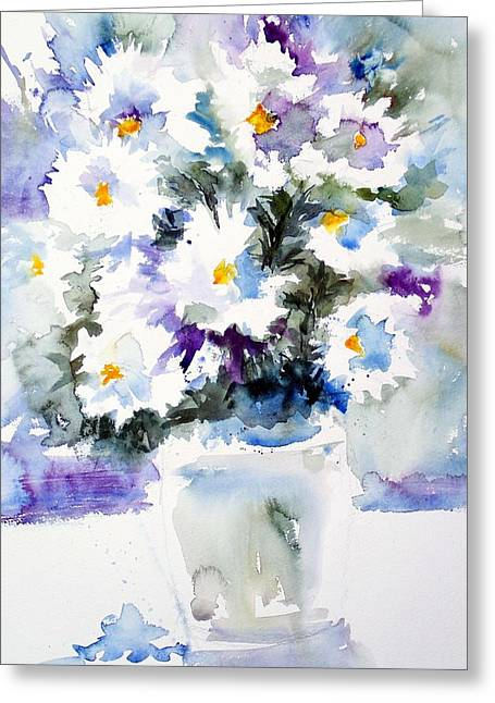 Daisy Bouquet Greeting Card by Carol Sprovtsoff