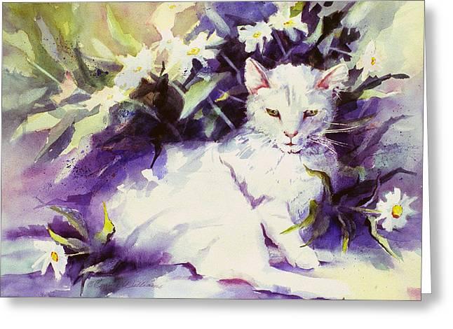 Daisy Cat Greeting Card