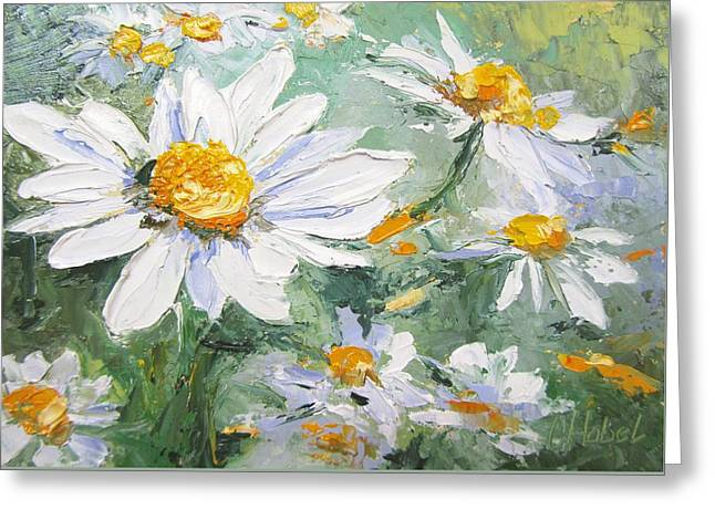Daisy Delight Palette Knife Painting Greeting Card