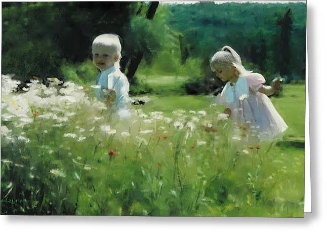 Daisy Field Of Innocents Greeting Card by Elzire S