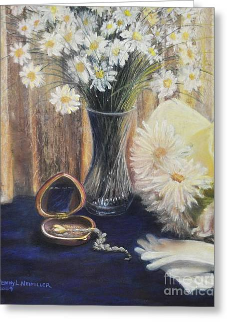 Daisy Love Greeting Card by Penny Neimiller