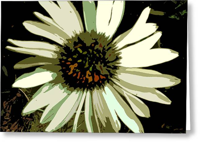 Daisy Greeting Card by Mindy Newman