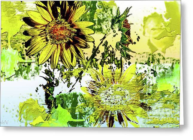 Sunflower On Water Greeting Card