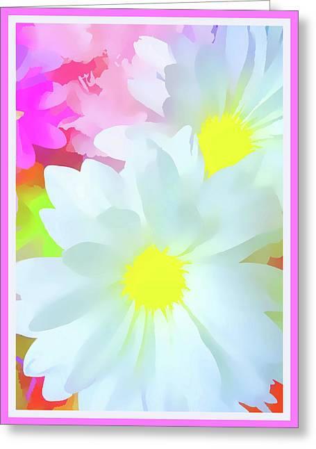 Daisy Poster Greeting Card by Susan Lafleur