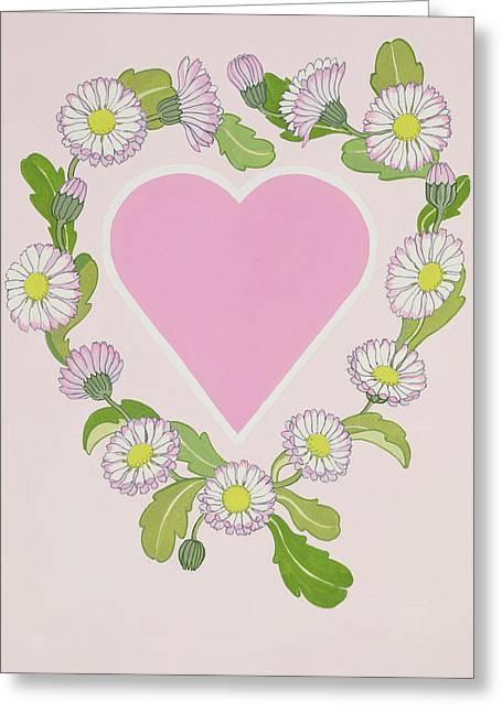 Daisy Valentine Greeting Card by Lavinia Hamer
