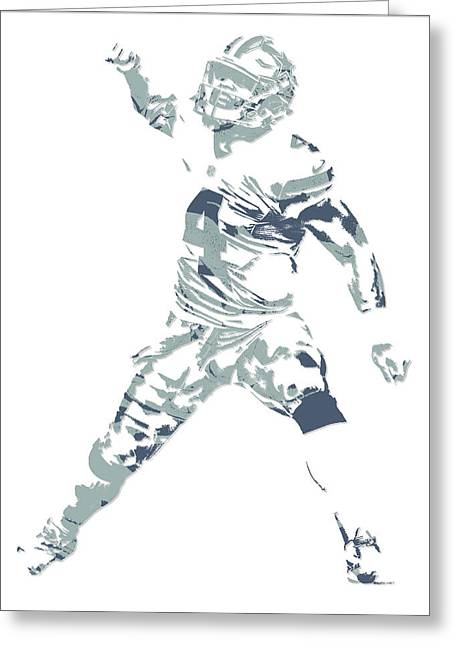 Dak Prescott Dallas Cowboys Pixel Art 10 Greeting Card