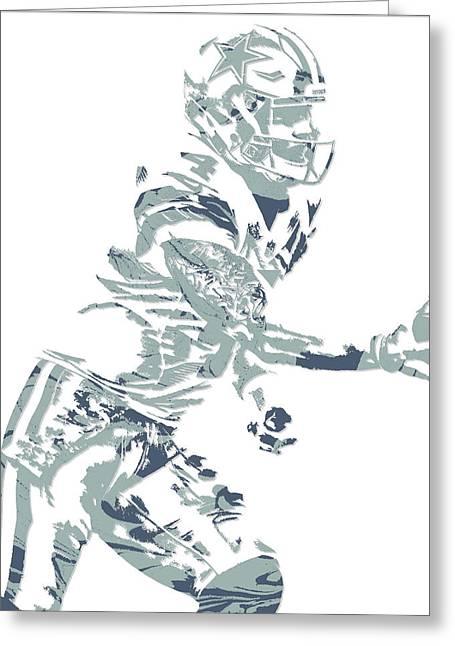 Dak Prescott Dallas Cowboys Pixel Art 11 Greeting Card