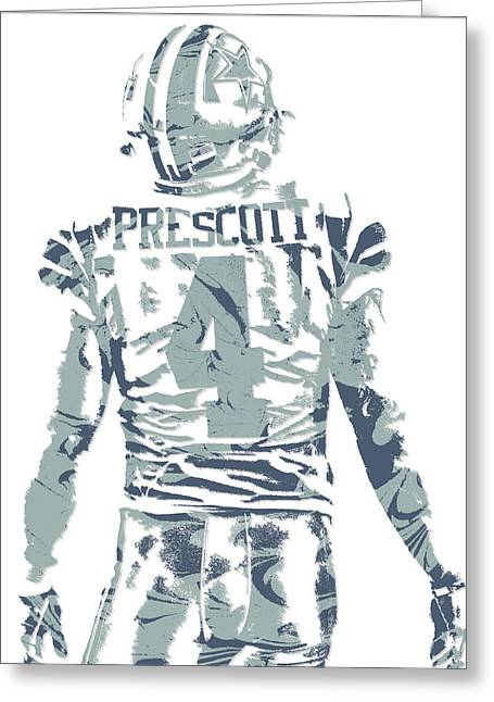 Dak Prescott Dallas Cowboys Pixel Art 12 Greeting Card