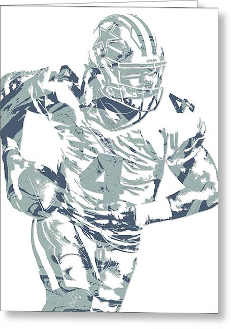 Dak Prescott Dallas Cowboys Pixel Art 14 Greeting Card