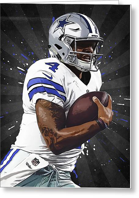 Dak prescott digital art by semih yurdabak for Dak prescott coloring pages