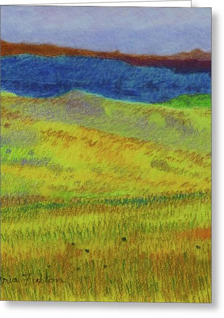 Greeting Card featuring the painting Dakota Dream Land by Cris Fulton
