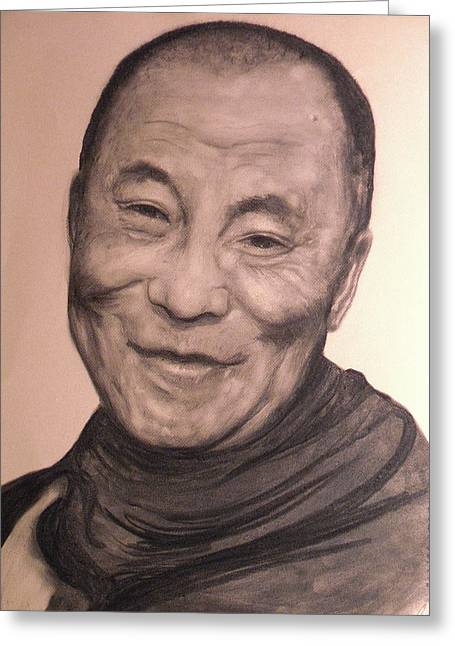 Dalai Lama Greeting Card by Adrienne Martino