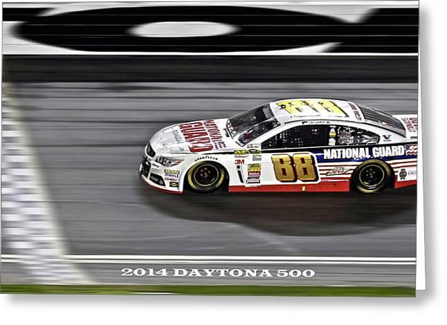 Dale Earnhardt Jr. Wins The 2014 Daytona 500 Greeting Card