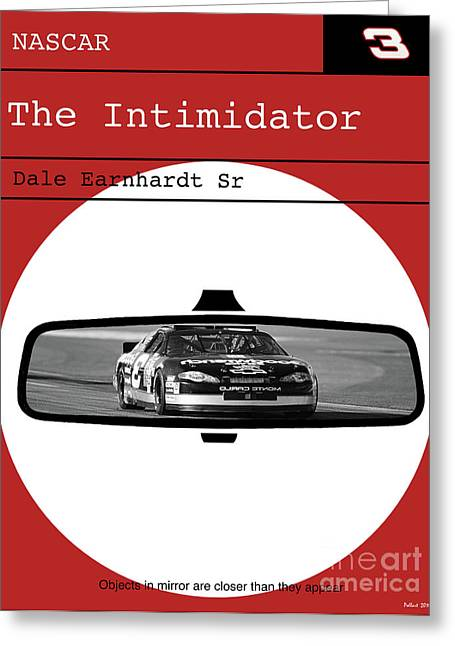 Dale Earnhardt Sr., The Intimidator, Nascar, Minimalist Poster Art Greeting Card by Thomas Pollart