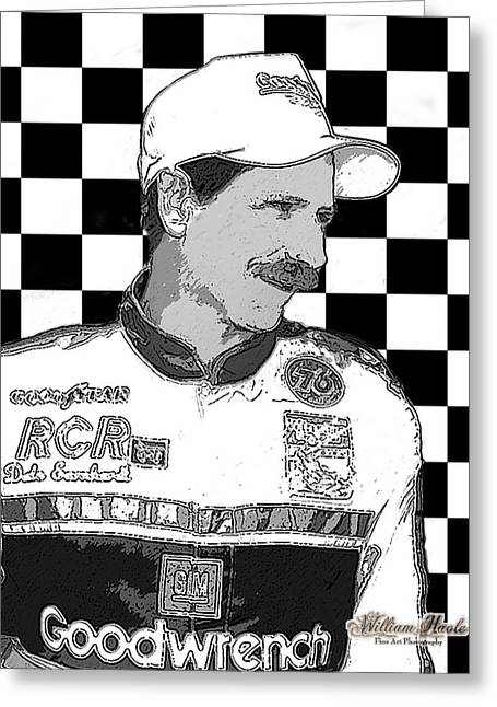 Greeting Card featuring the digital art Dale Earnhardt Sr by William Havle